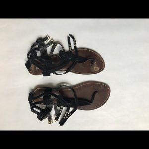 Steve Madden Black Gladiator Style Sandals